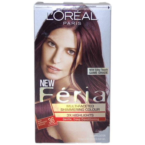 The Best Shop L Oreal Feria 36 Deep Burgundy Brown 1 Application Pictures