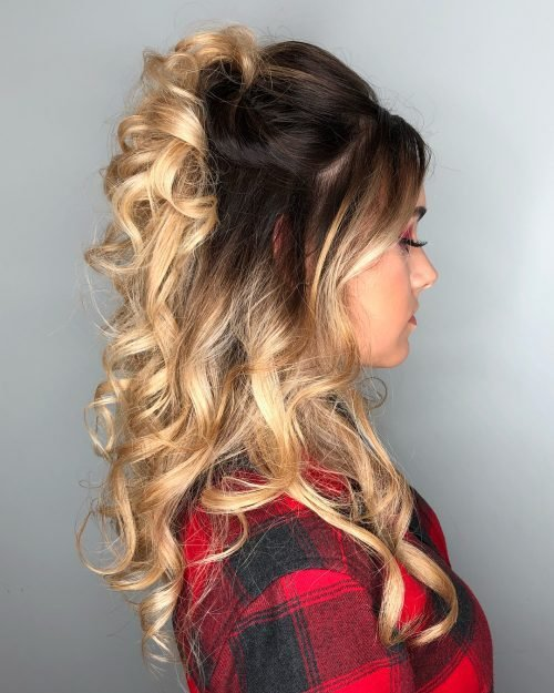 The Best 27 Prettiest Half Up Half Down Prom Hairstyles For 2019 Pictures