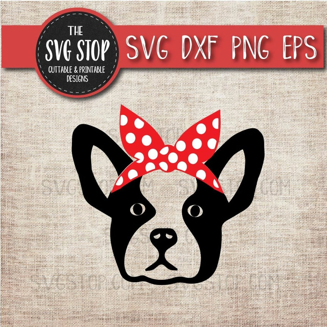 The Best Boston Terrier French Bulldog Bandana Animals Svg Cut File Pictures
