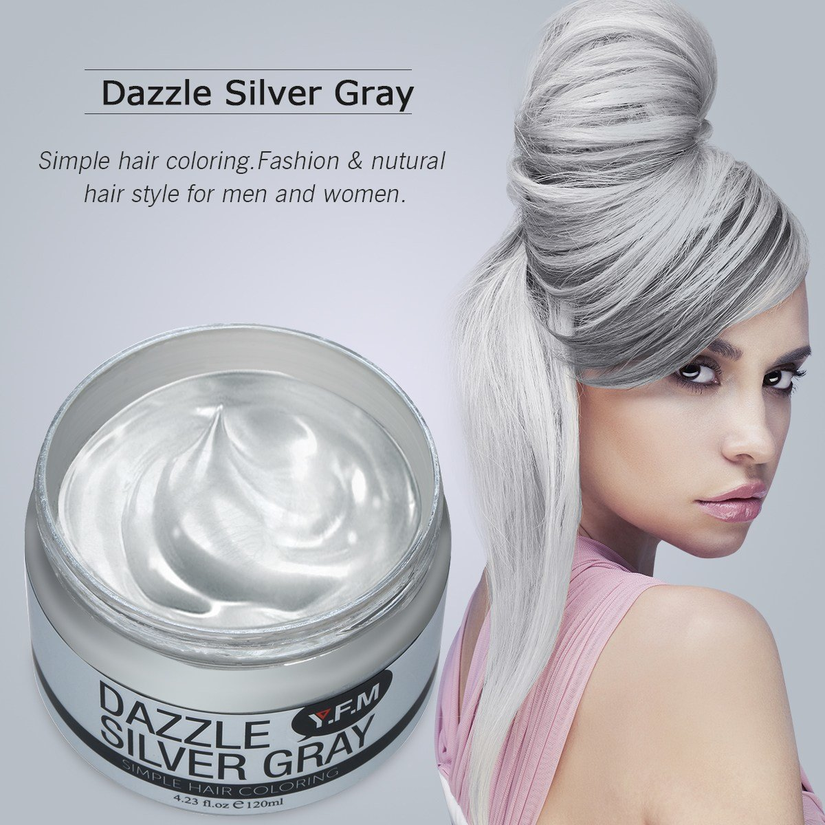 The Best Temporary Silver Grey Hair Color Wax Yfm Pictures