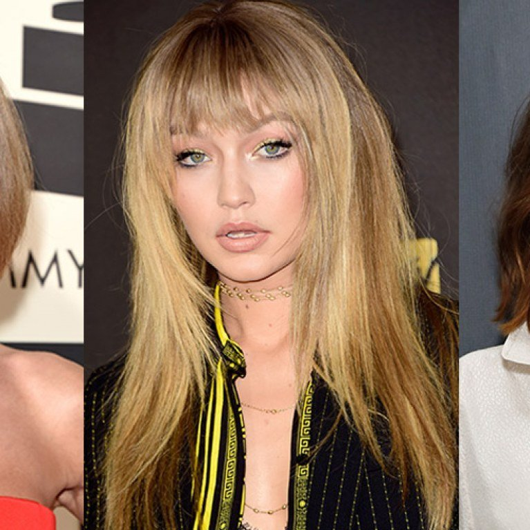 The Best Fringe Hairstyles The Best Celebrity Bangs Ever Pictures