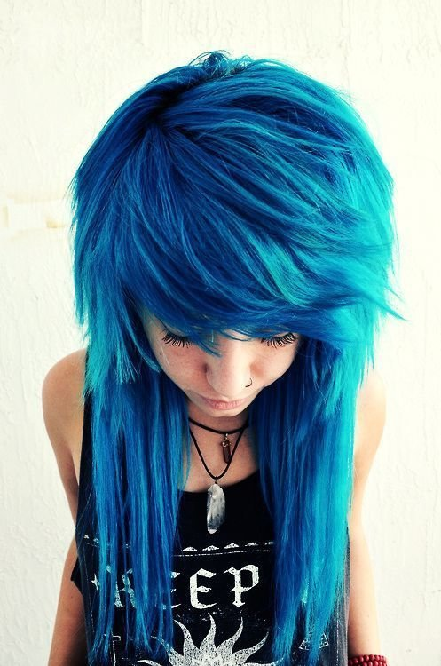 The Best Beautiful Creative Cobalt Blue Haircolor Long Hair Pictures