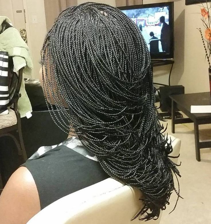 The Best 40 Ideas Of Micro Braids And Invisible Braids Hairstyles Pictures