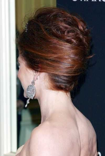 The Best Debra Messings Elegant French Twist Hairstyle French Pictures