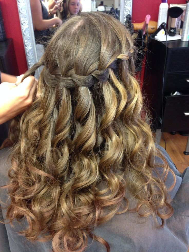 The Best Julia S Waterfall Braid For 8Th Grade Graduation Hair Pictures