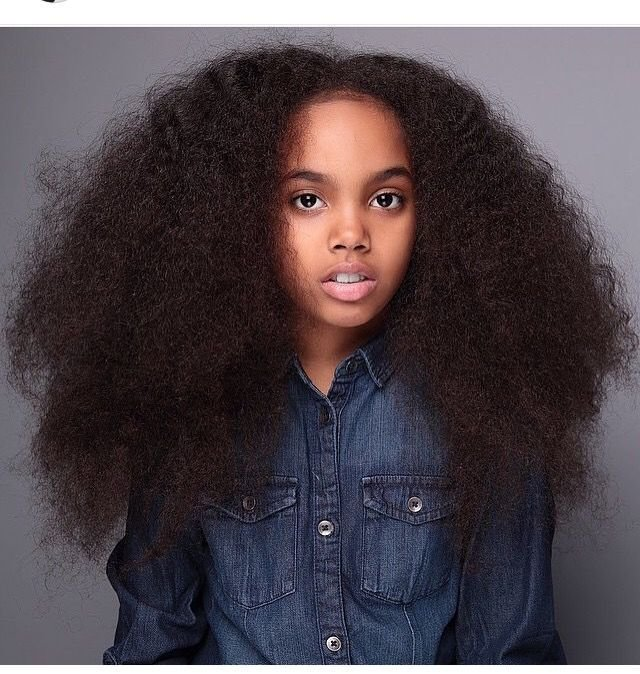 The Best Little Black Girls With Long Hair Long Afro Hair Black Pictures
