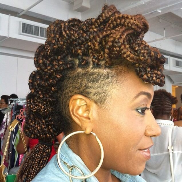 The Best Mohawk Box Braids Shaved Sides Hairstyles Pinterest Pictures