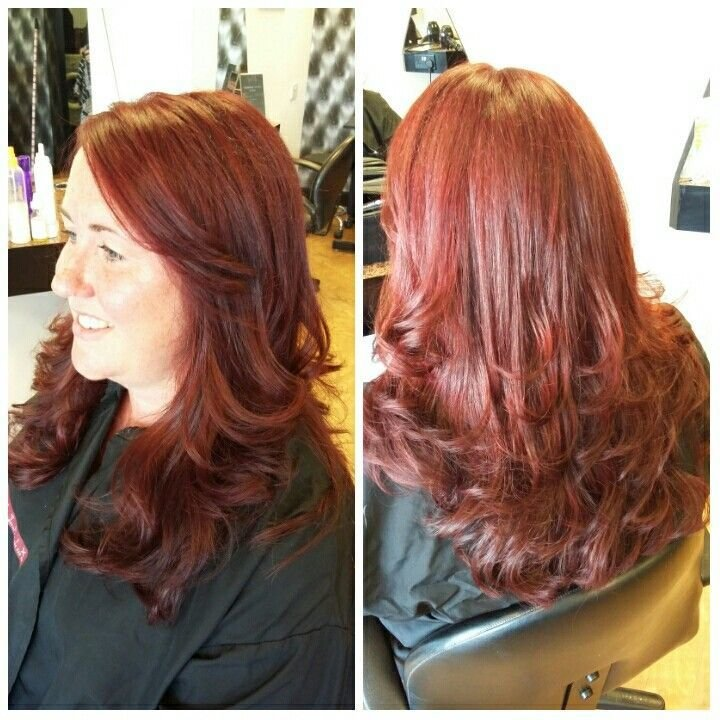 The Best Gorgeous Matrix Socolor 6Rv Hair Make Up Long Hair Pictures
