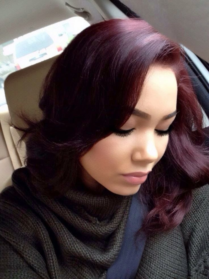 The Best Burgundy Hair Hairstyles Hairstyle Detail Hairstyles ღ Pictures