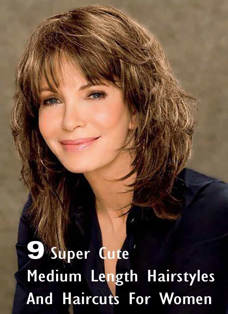 The Best 9 Super Cute Medium Length Hairstyles And Haircuts For Women Hairstyles Beauty Hair Styles Pictures