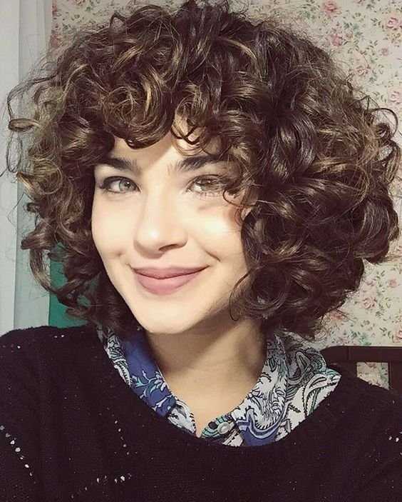 The Best Short Layered Curly Hair With Bangs My Sh*T Hair Pictures