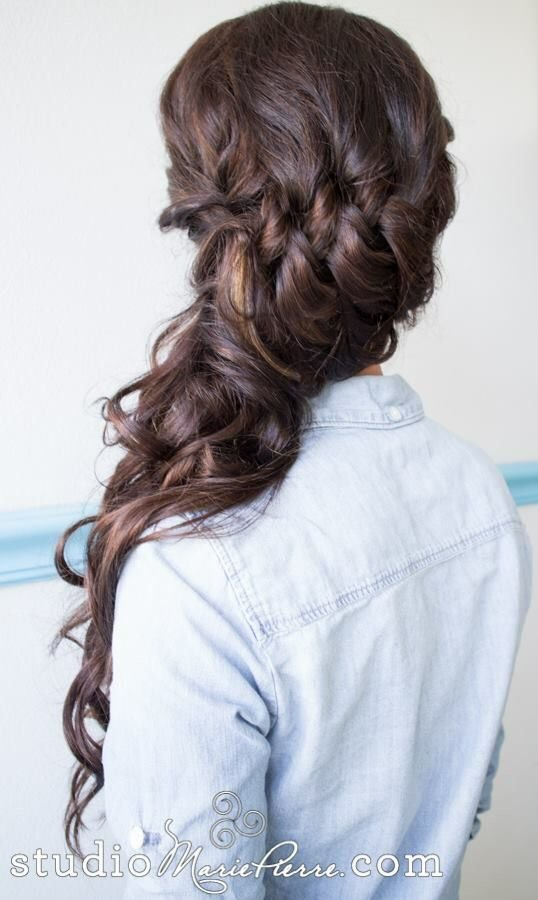 The Best Soft Braided Off To The Side Updo Studio Marie Pierre Pictures
