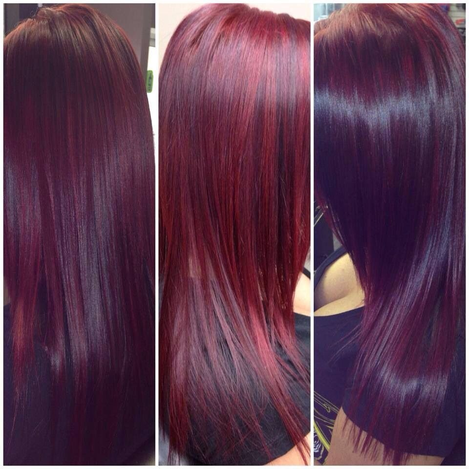 The Best Red Violet Hair Using Schwarzkopf Color Red Violet Hair Pictures