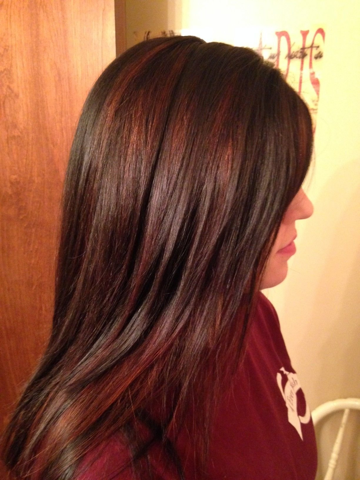The Best Chocolate Brown With Red Highlights Love My Style In Pictures