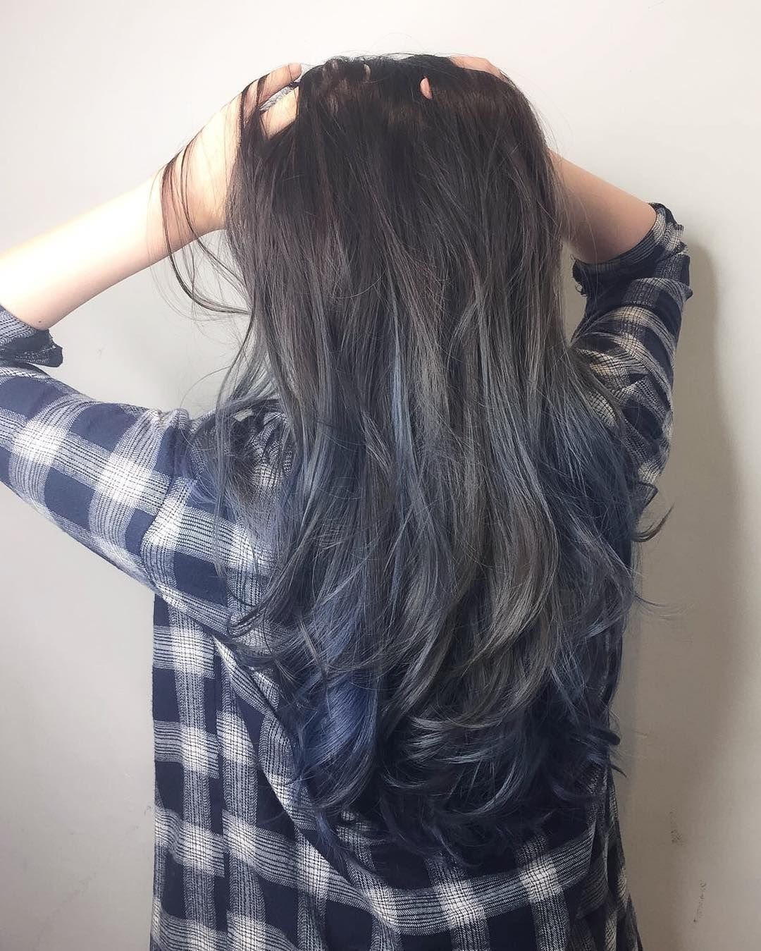 The Best Blue Grey Ash With Ombré Balayage Cleo Hair Pictures
