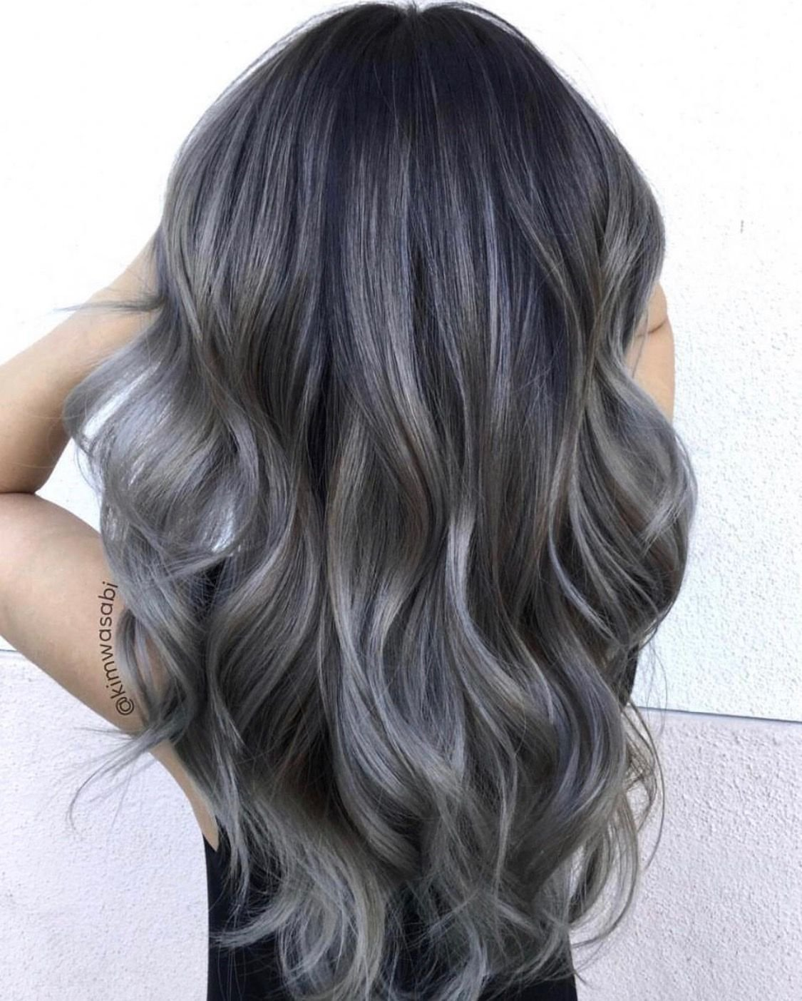 The Best Ash Grey Balayage Balayage Ombre Colorful In 2019 Pictures