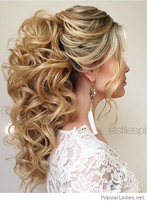 The Best High Curly Ponytail Wedding Hair My Next Big Project Pictures