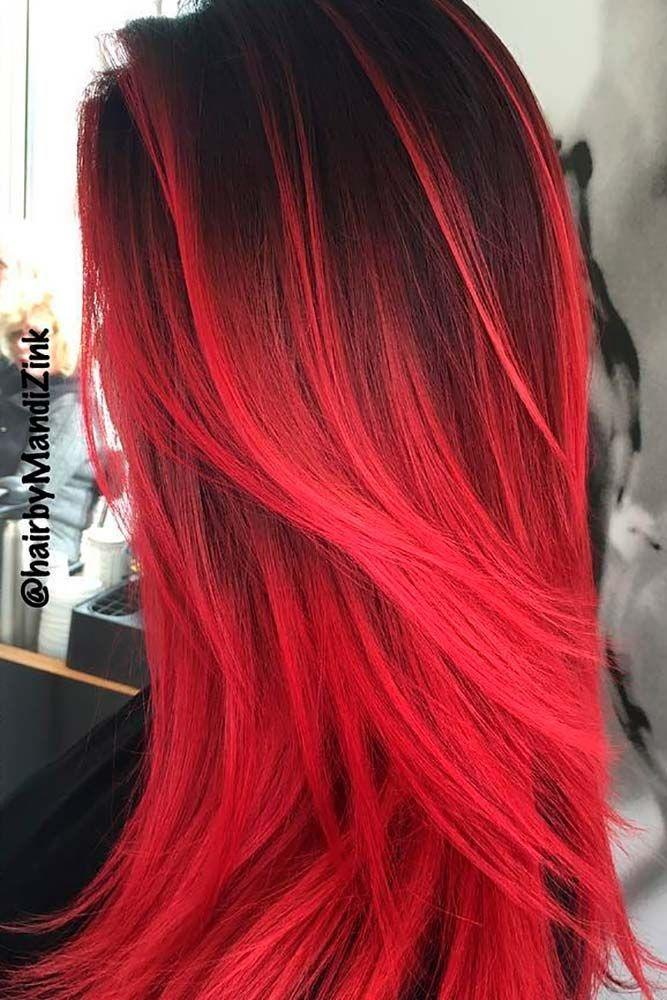 The Best 23 Beautiful Red Ombre Hair Hair Hair Dyed Hair Red Pictures