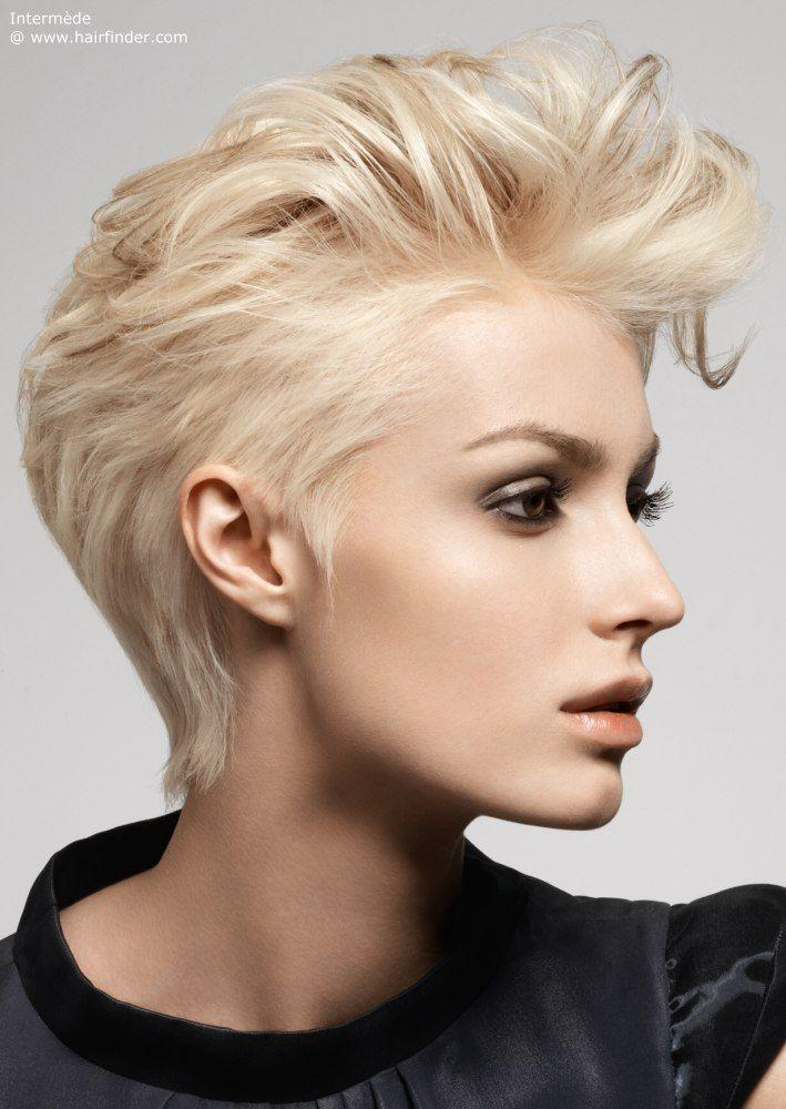 The Best Short Haircut With Brushed Back Styling Hair Do S In 2019 Hairdos For Short Hair Short Pictures