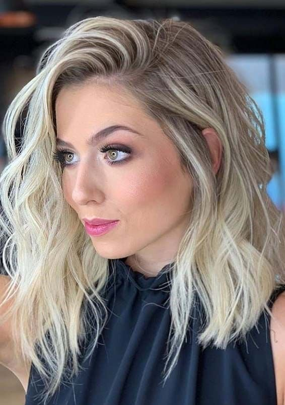 The Best Gorgeous Medium Length Blonde Hairstyles Haircuts In Pictures