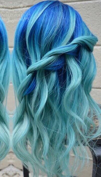 The Best Royal Blue Turquoise Ice Blue Dyed Hair Color Dyed Hair Pictures