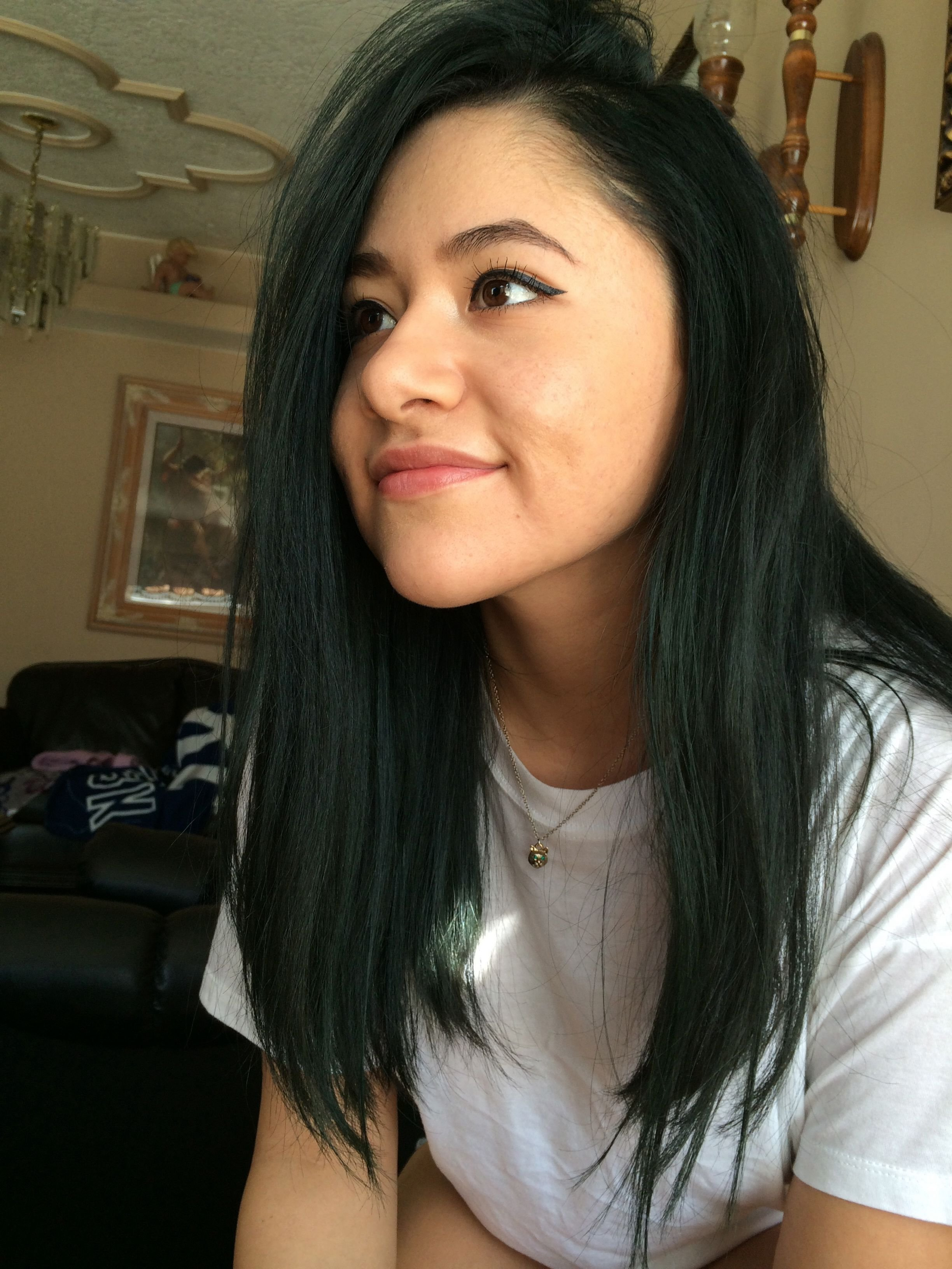 The Best Dark Green Hair I Like This Its Subtle I Could Get Away Pictures