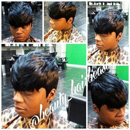 The Best Quickweave 27 Piece With Bangs Quickweaves Edgy Short Pictures