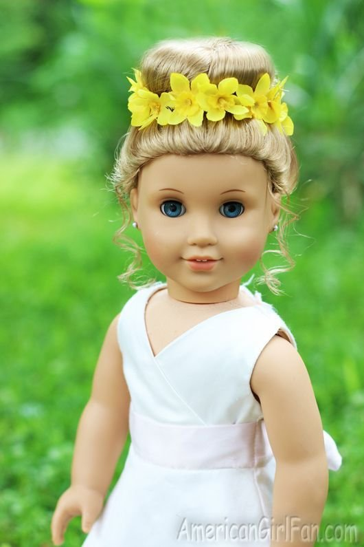 The Best Doll Hairstyle Bun With Flower Crown Americangirlfan Pictures