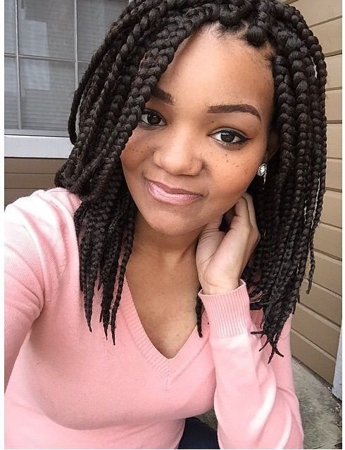 The Best Short Box Braids Style Find More Like This On Www Pictures