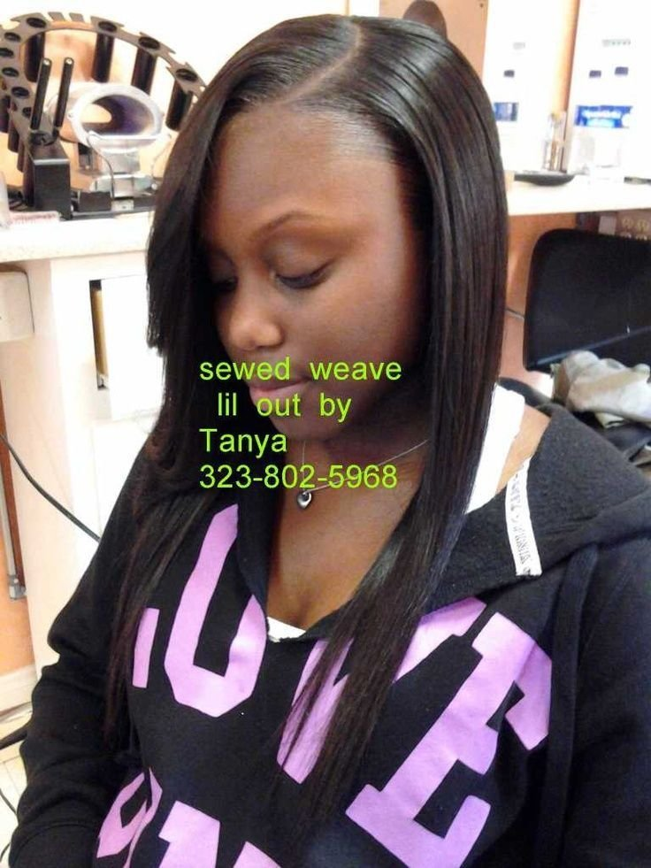 The Best Full Head Sewed In Weave With Lil Out To Cover Tracks Pictures