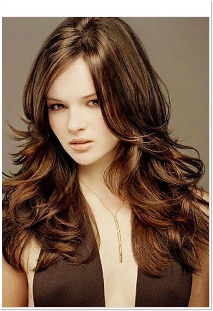 The Best Layered Hairstyles Long Layered Haircuts For Round Faces Pictures