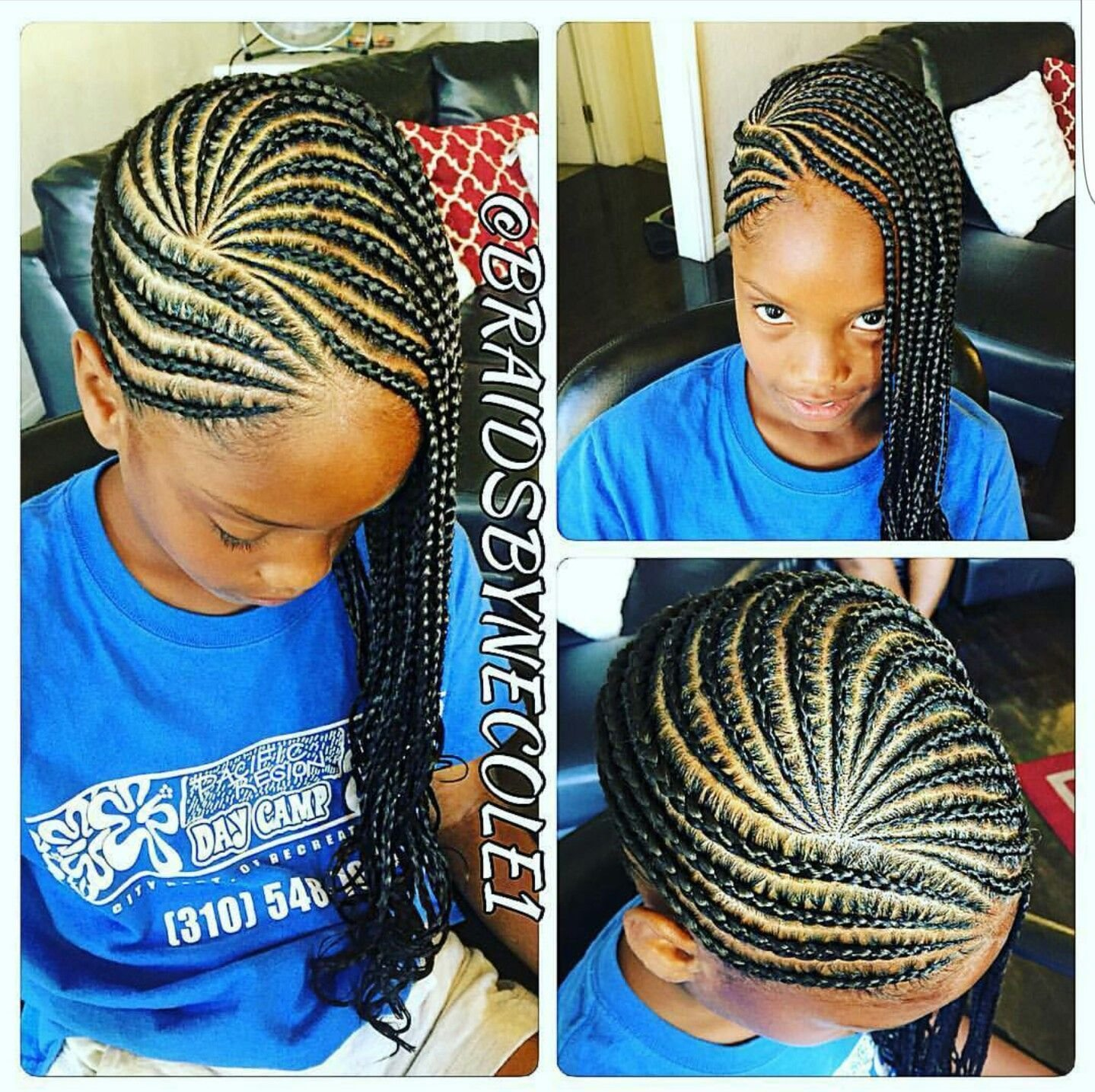 The Best Children S Cornrows Natural Hair Style Braids Braided Pictures
