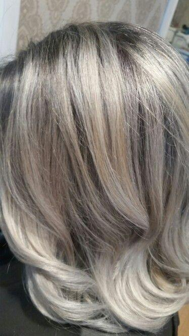 The Best Image Result For Transition To Grey Hair With Highlights Pictures