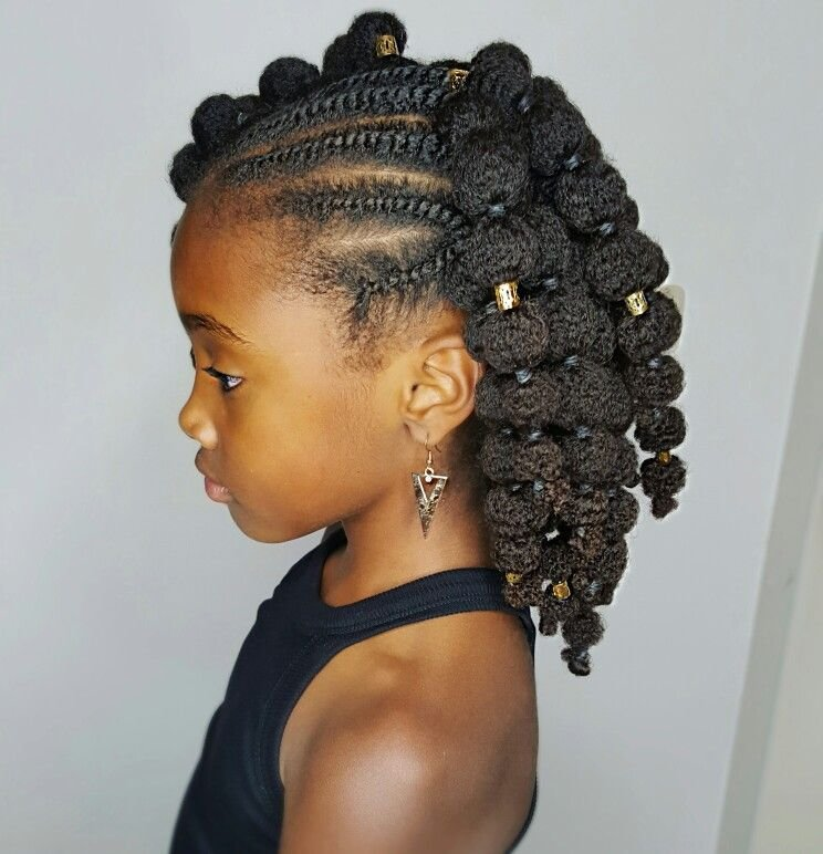 The Best Mini Puffs Natural Hairstyles For Kids Buns And Updo S Pictures