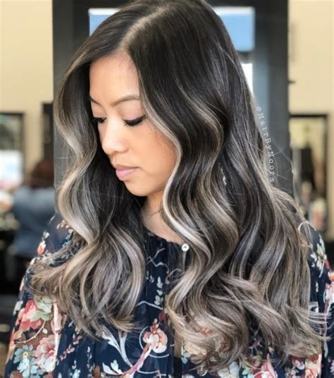 The Best 60 Ideas Of Gray And Silver Highlights On Brown Hair Pictures