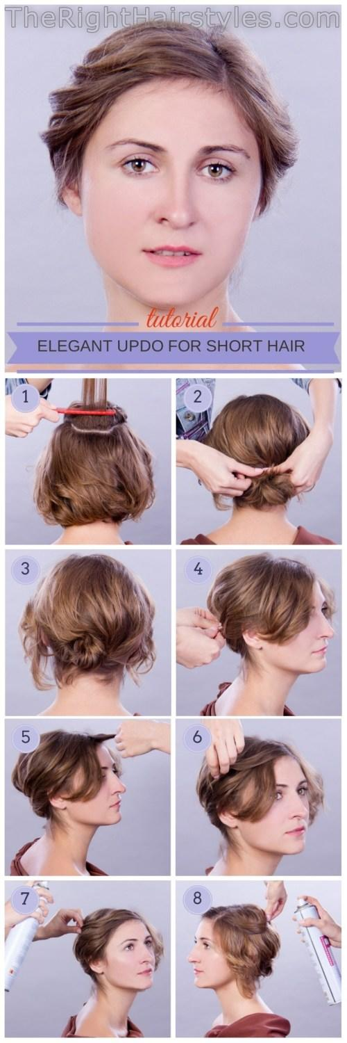 The Best How To Elegant Updo For Short Fine Hair Pictures