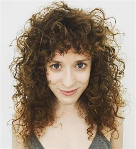 The Best 40 Cute Styles Featuring Curly Hair With Bangs Pictures