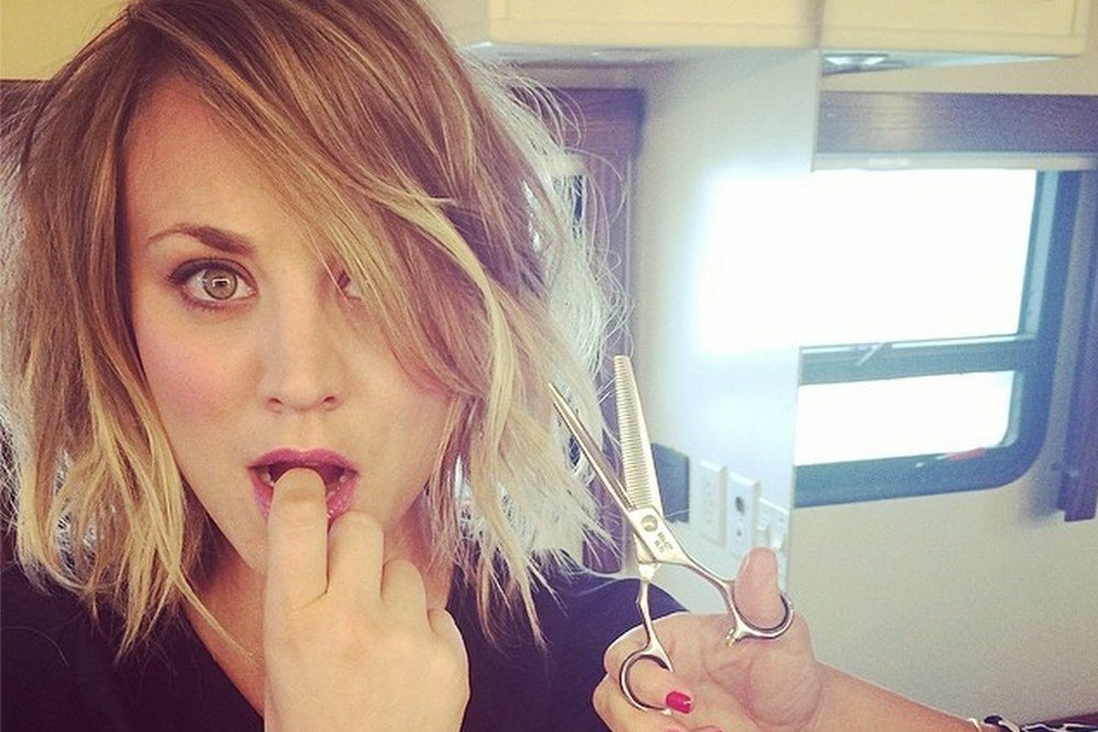The Best Kaley Cuoco Sweeting Chops Off Her Locks Page Six Pictures