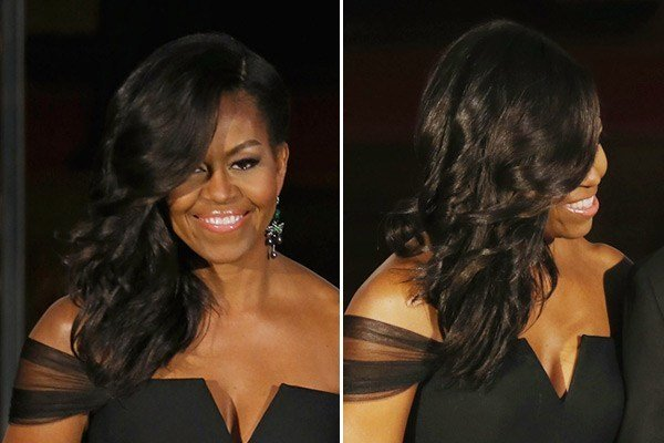 The Best Michelle Obama's New Hairstyle — See Her Side Swept Wavy Pictures