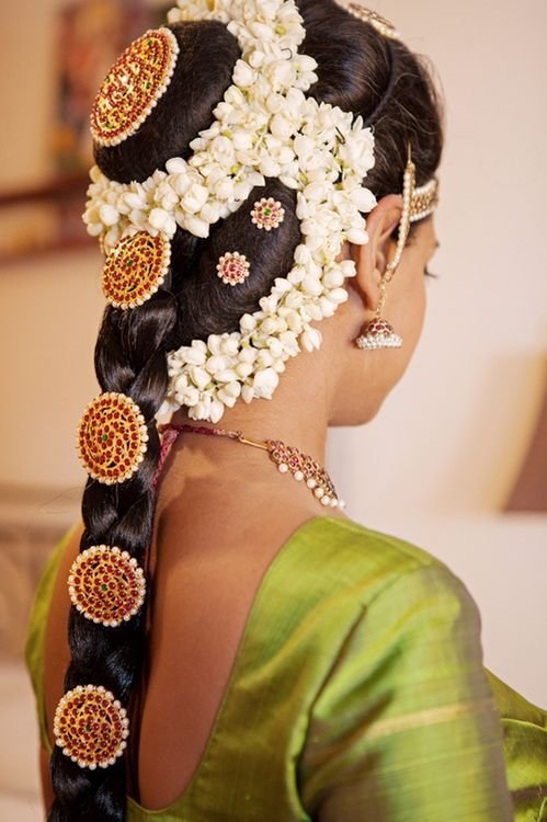 The Best South Indian Bridal Hairstyles 06 Indian Makeup And Pictures