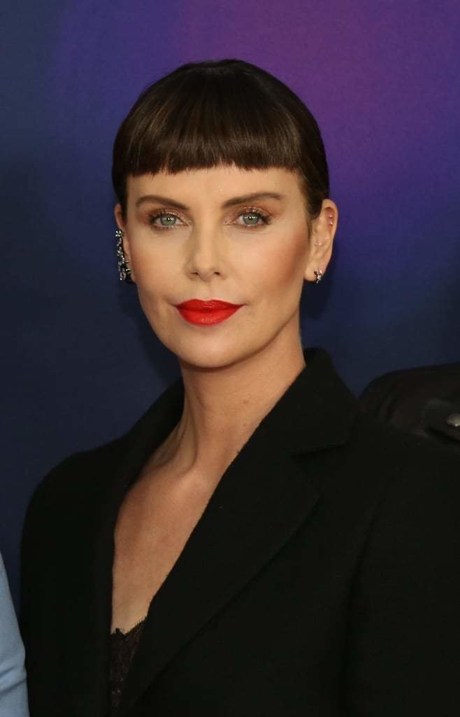 The Best Charlize Theron S Bangs Hairstyle April 2019 Popsugar Pictures