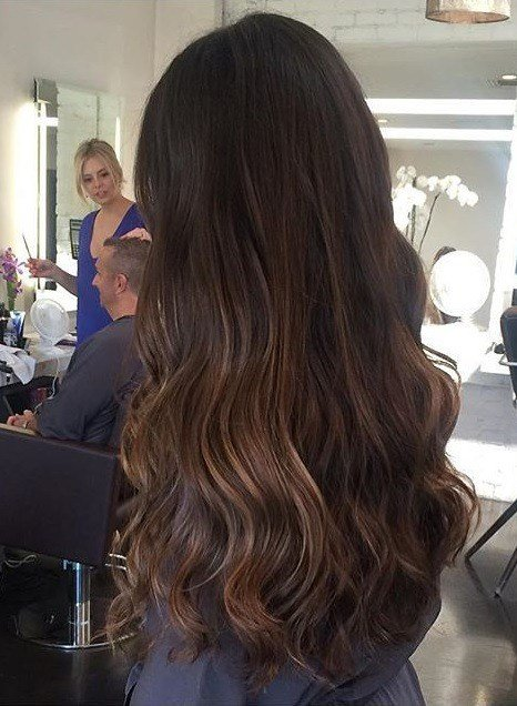 The Best Brunette Highlights And Long Layers Neil George Pictures