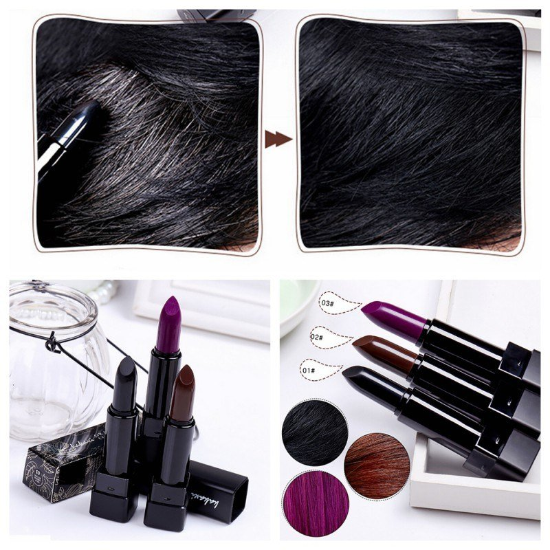 The Best Temporary Hair Color Dye Mascara Non Toxic Cover Gray Root Pictures