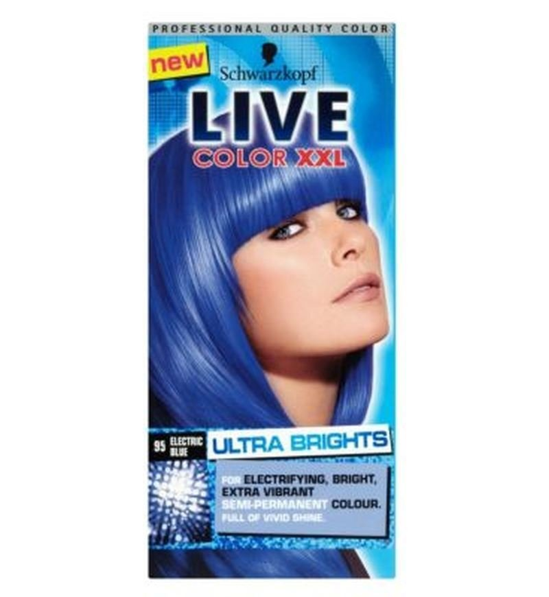 The Best Schwarzkopf Live Xxl Ultra Brights 95 Electric Blue Semi Pictures