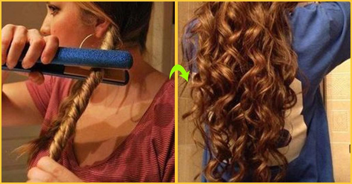 The Best How To Curl Hair With Straightener Do It Yourself Pictures