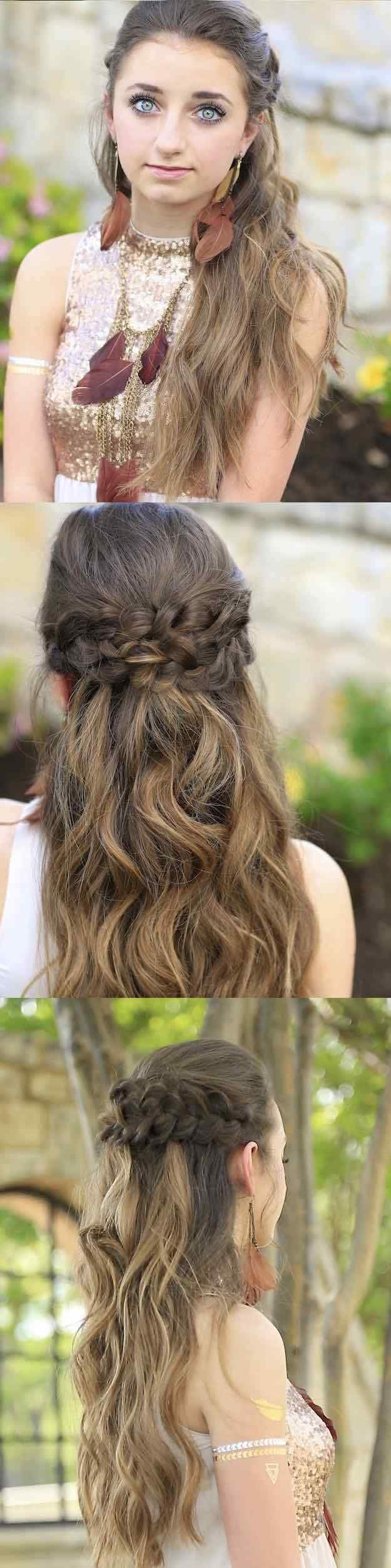 The Best 25 Easy Half Up Half Down Hairstyle Tutorials For Prom Pictures