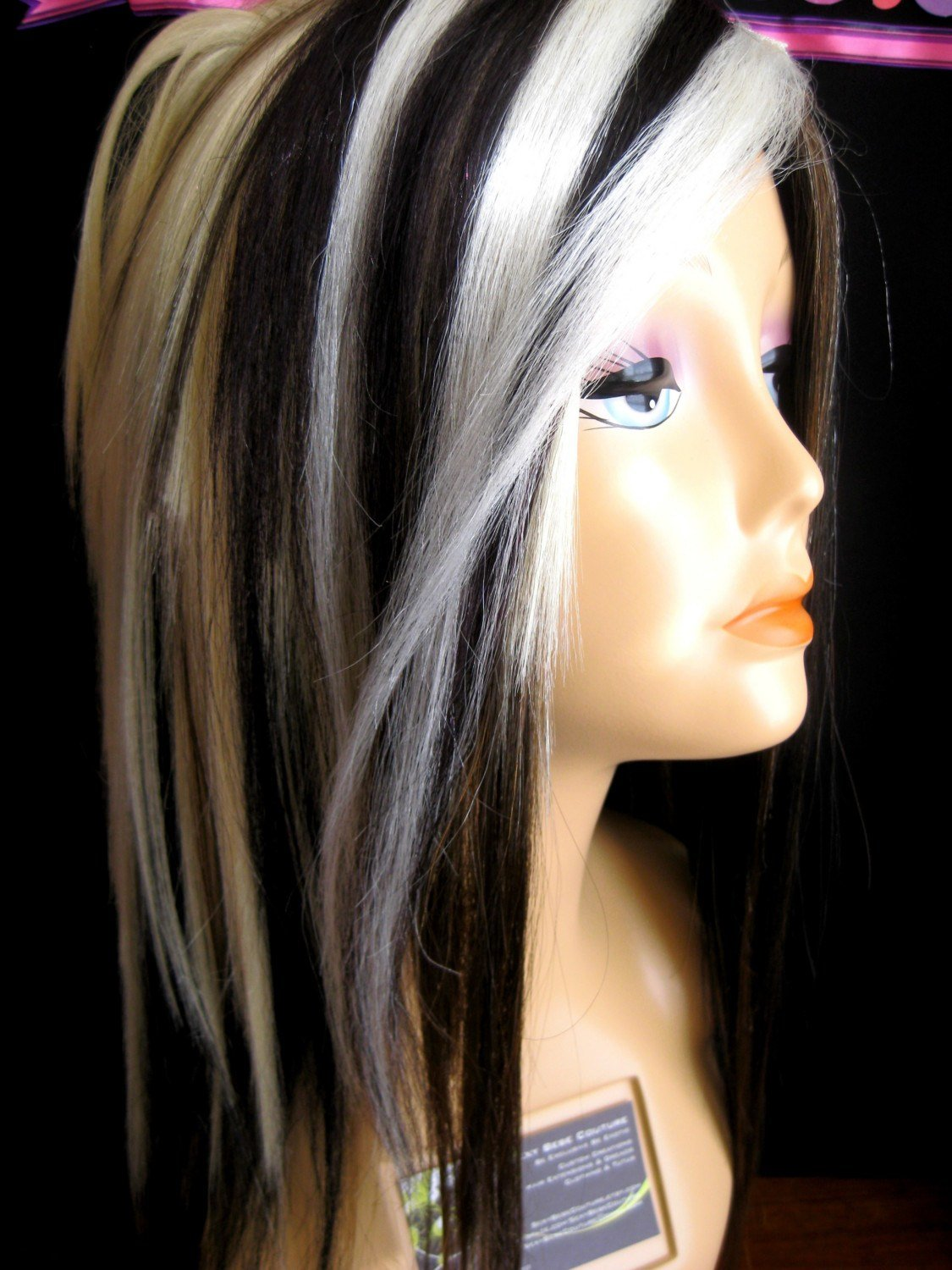 The Best Blonde Hair With Black Streaks Hairstyle For Women Man Pictures