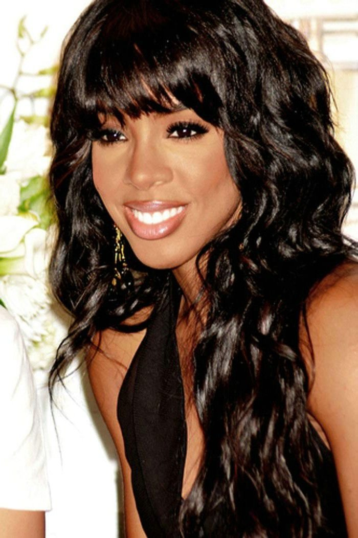The Best Long Black Hairstyles With Bangs Hairstyle For Women Man Pictures
