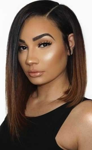 The Best Ombre Asymmetrical Lob Deep Side Part Bob Improved 360 Pictures