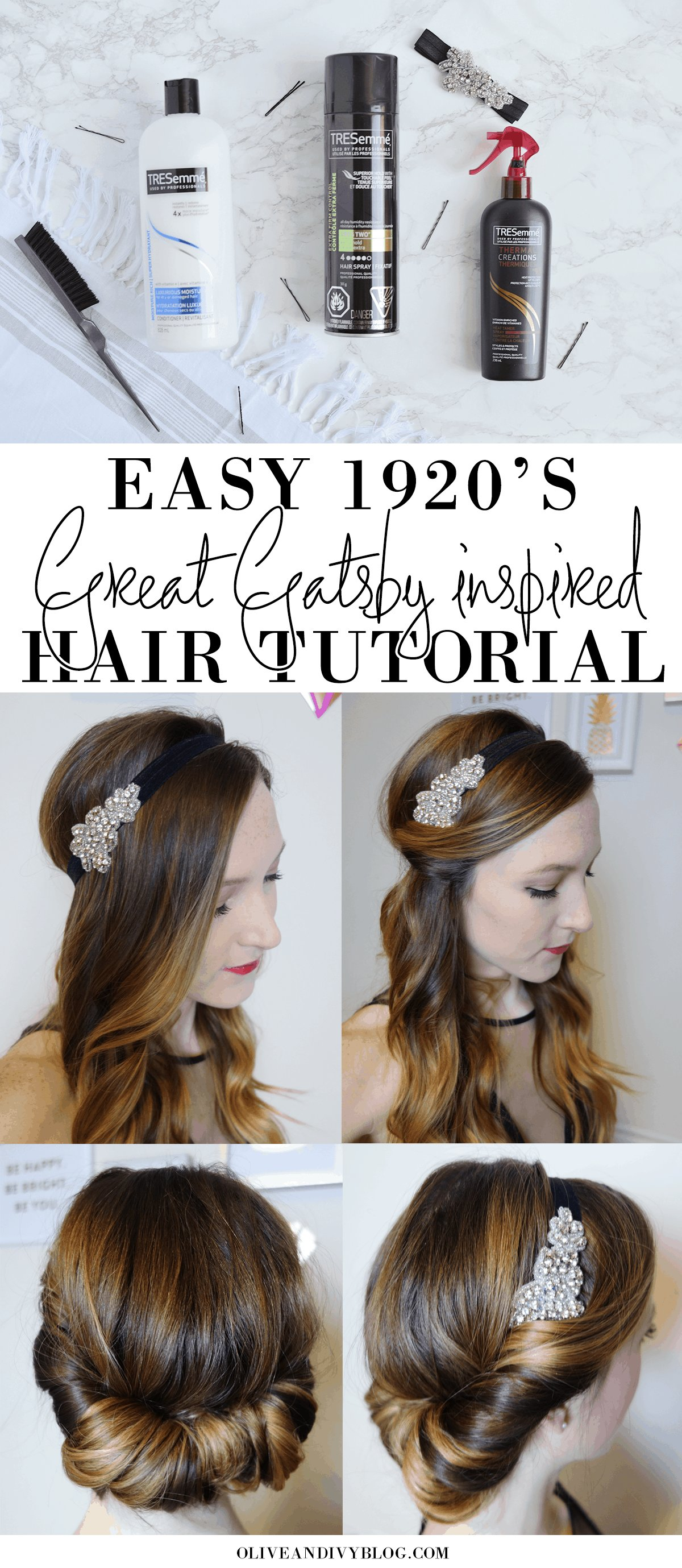 The Best Easy 1920 S Great Gatsby Hair Tutorial Olive Ivy Pictures